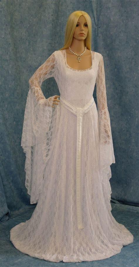 Galadriel white lace dress LOTR hobbit Renaissance