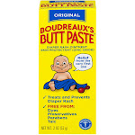 Boudreaux's Butt Paste Diaper Rash Ointment - Original - Paraben and Preservative Free, 2oz Tube