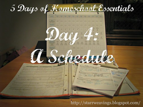 5 Days of Homeschooling Essentials - Day 4: A Schedule