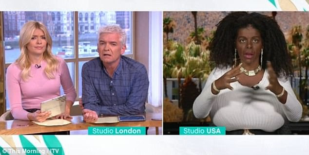 Martina explained to Holly and Phil about her plans to become more black and understand the culture