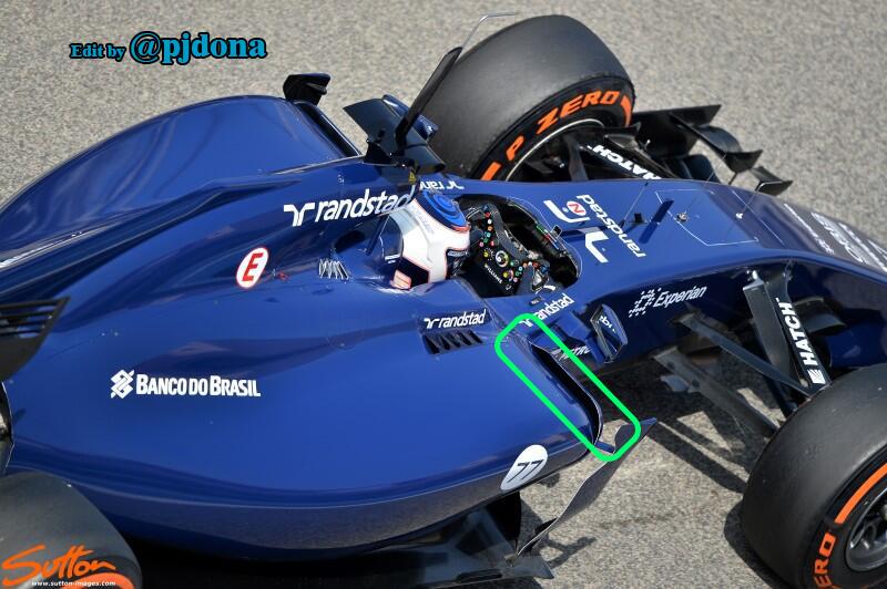 Test Bahrein: Williams con novità sulle fiancate e al cofano motore