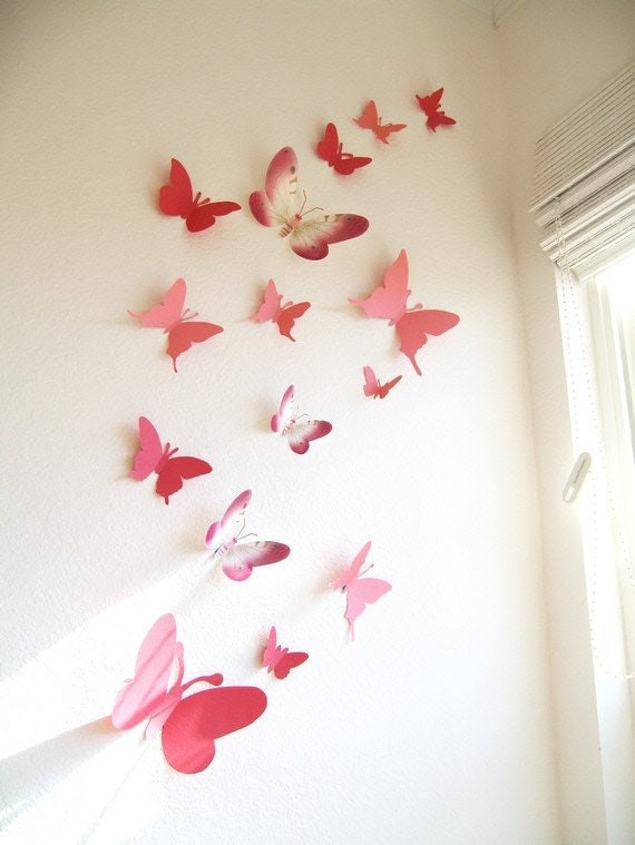 Popular items for 3d butterfly wall art on Etsy
