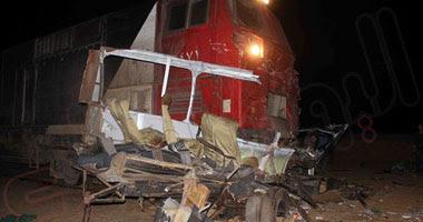 جانب من حادث قطار