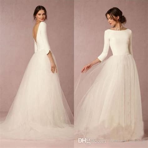 Cheap Stunning Winter Wedding Dresses A Line Satin Top