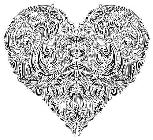 ausmalbilder für erwachsene herz  valentines