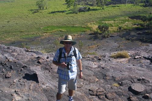Ken climbing the rock