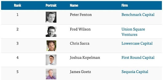 The Top 100 Venture Capitalists | Venture Capital Stories