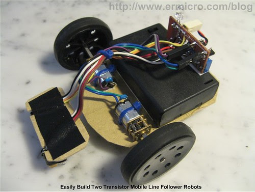 Build Your Own Transistor Based Mobile Line Follower Robot (04)