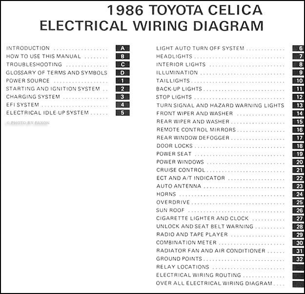 [DIAGRAM] 1993 Toyota Celica Wiring Diagram Original FULL ...