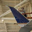 First plane with United's advanced winglet technology takes off from Houston