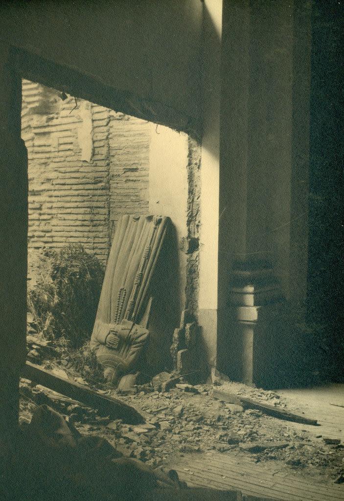 Iglesia del Convento de las Concepcionistas destruida en la Guerra Civil. Fotografía de Pelayo Mas Castañeda. Causa de los mártires de la persecución religiosa en Toledo