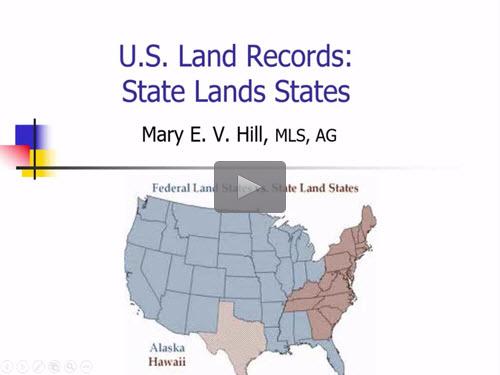 Geneawebinars u s land records state land states for States with free land