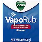Vicks VapoRub Cough Suppressant Topical Analgesic Ointment 6 oz. Jar