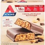 Atkins Advantage Chocolate Peanut Butter Bar - 5 pack, 2.1 oz each