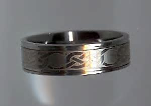 Tungsten Love Knot Rings