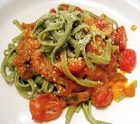 pasta wine sauce roasted garlic