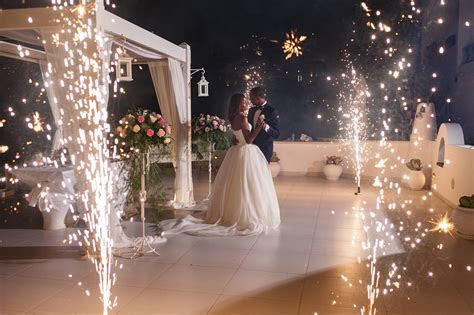 Fireworks   Divine Weddings Santorini   Wedding Planner