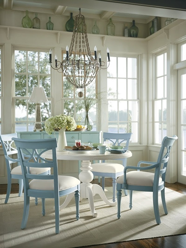 Ideas For Decorating Coastal Dining Room | InteriorHolic.