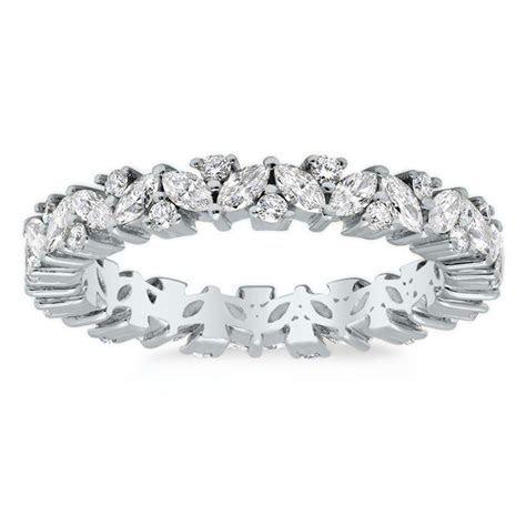 Marquise and Round Diamond Laurel Eternity Ring   Eternity
