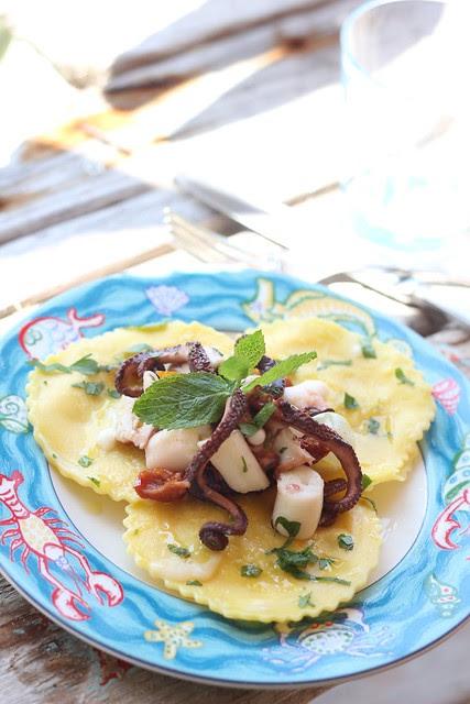tortelli mugellani con insalata polpo
