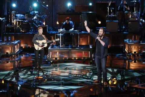 +The Voice performance last night for #CoreyKentWhite  and +Lee Brice during the #VoiceResults  show...