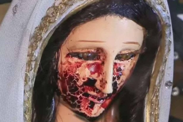 Virgin Mary cries blood