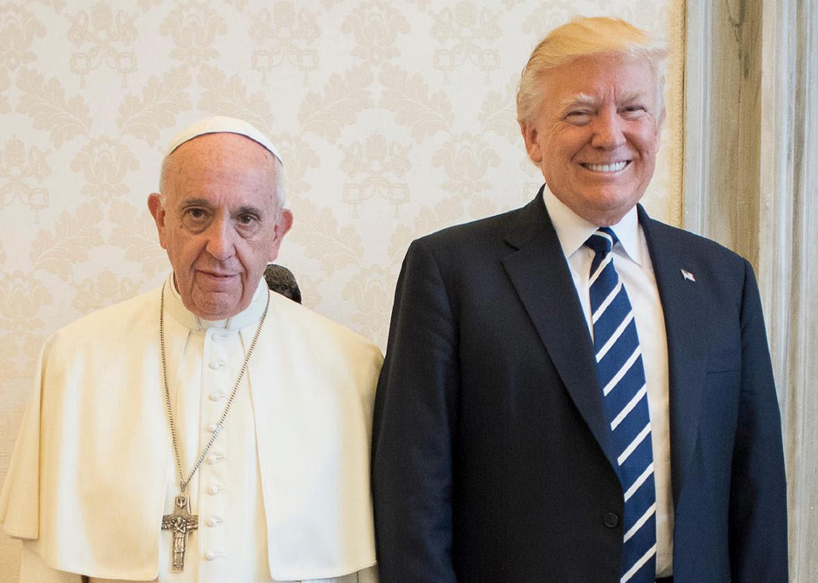 Αποτέλεσμα εικόνας για pope and trump
