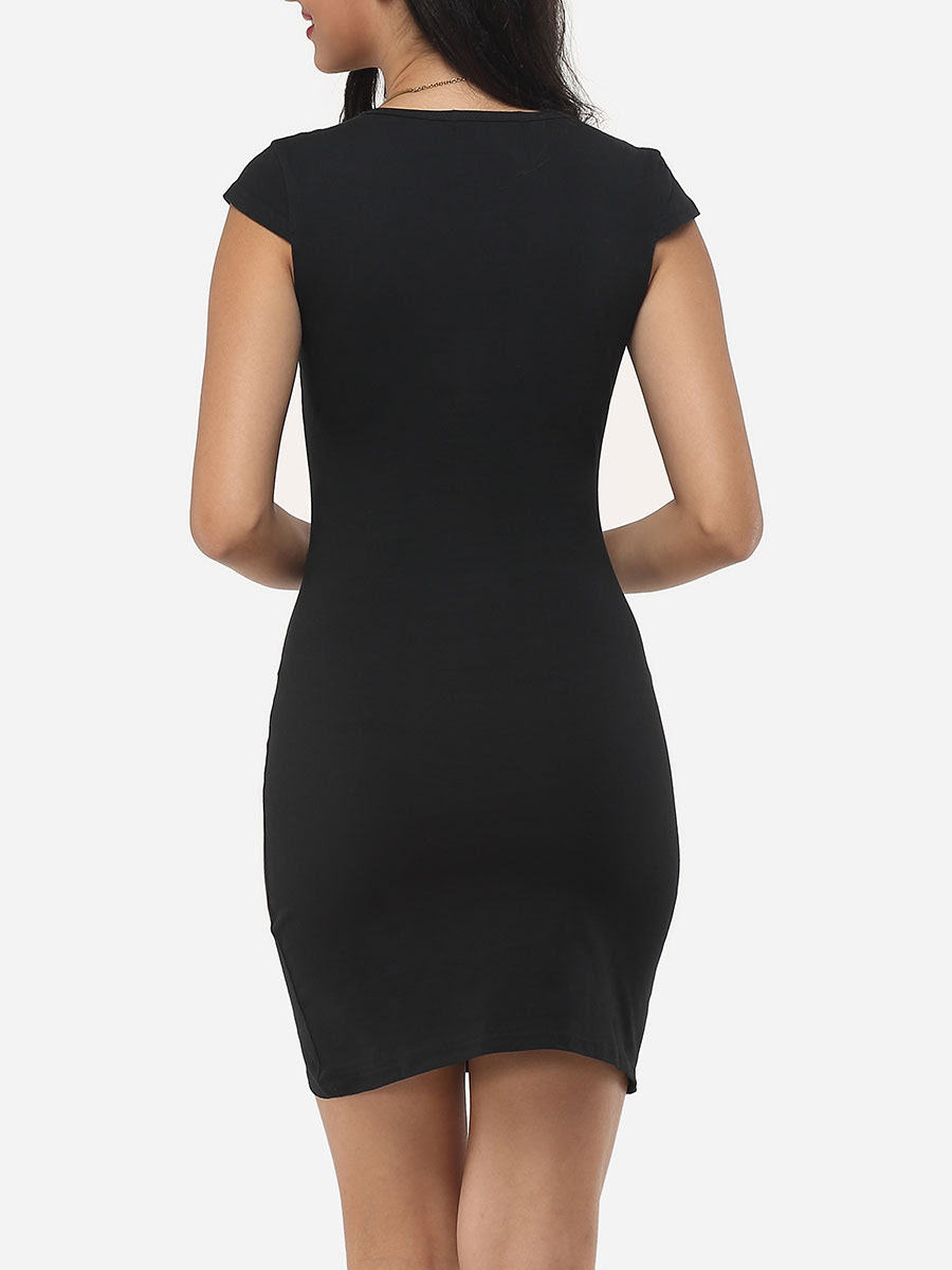 Pregnancy navy round neck plain bodycon dress heels homecoming red