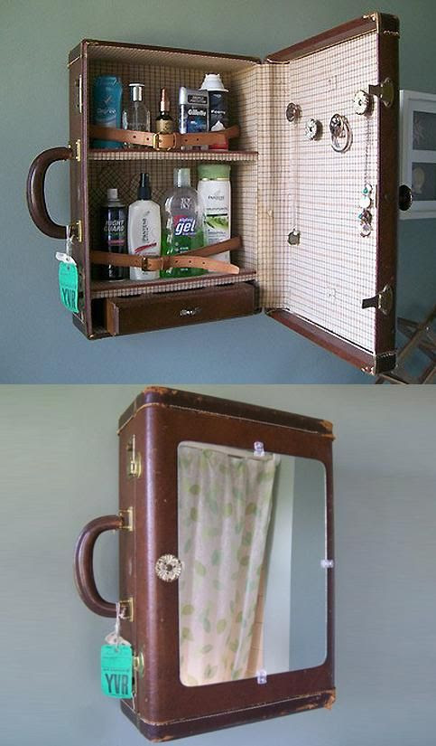 A great storage idea for art supplies above the girls desk.