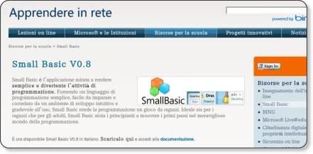 http://www.apprendereinrete.it/Risorse_online_per_la_scuola/Small_Basic/Small_Basic_V08.kl