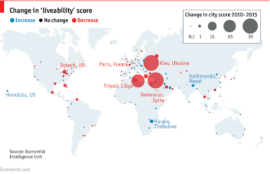 Daily chart: The world's most 'liveable' cities | The Economist