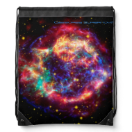 Cassiopeia, Milky Ways Youngest Supernova Drawstring Bag