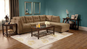Signature Design By Ashley Driskell Mocha Left Arm Facing Sofa