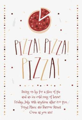 Pizza Party Invitation Template (Free)   Greetings Island
