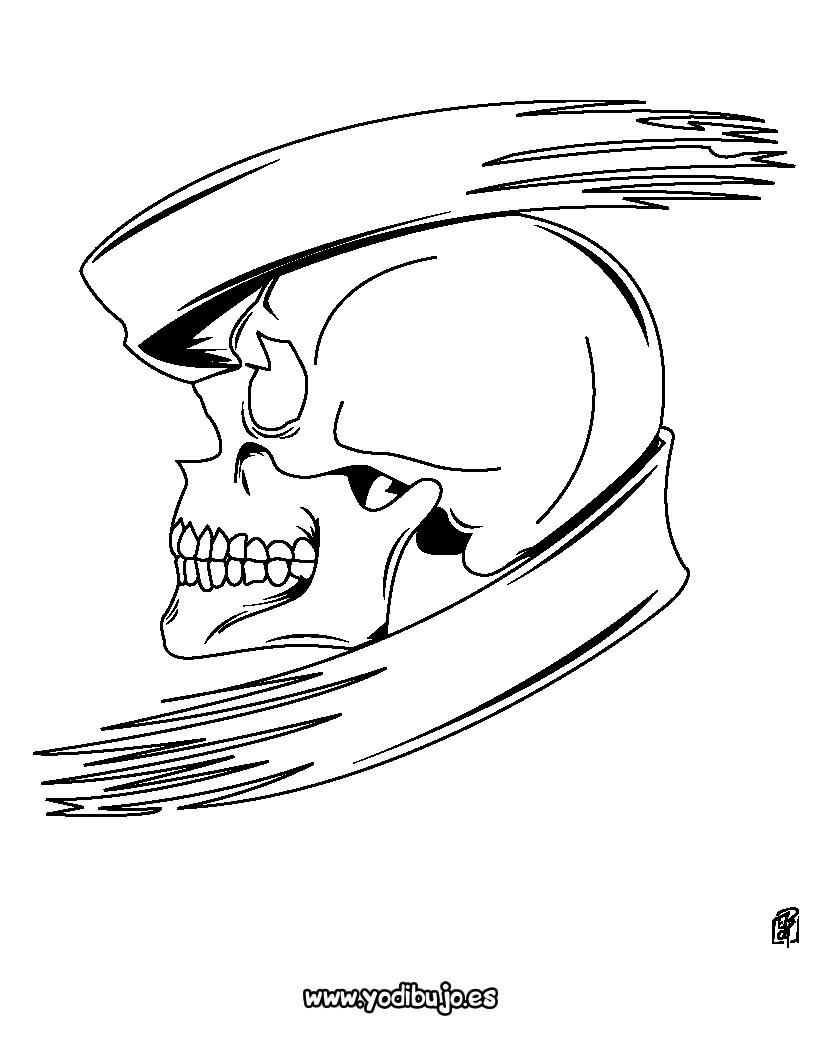 Dibujos Para Colorear Calavera 4 Dibujos De Calaveras Para Halloween