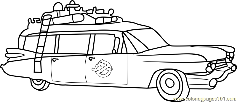 5500 Ghostbusters Car Coloring Pages For Free