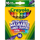 Crayola Washable Crayons, Large - 16 count