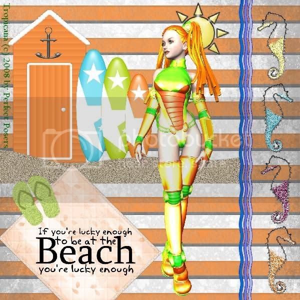 Beach,Summer,Fantasy,Poser