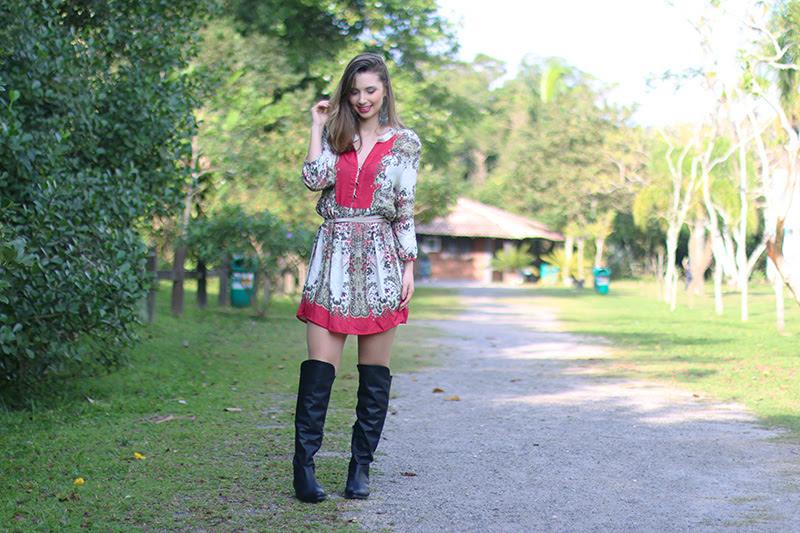 4-vestido estampado com rosa sly look jana taffarel
