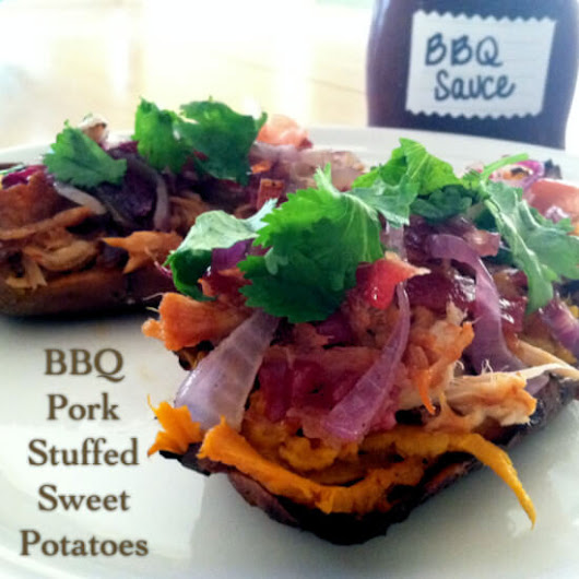 BBQ Pork Stuffed Sweet Potatoes - Primally Inspired