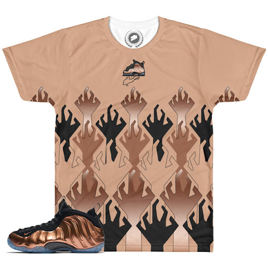 Copper Foamposite World War KickZ V1 SneakerMatch T-Shirt