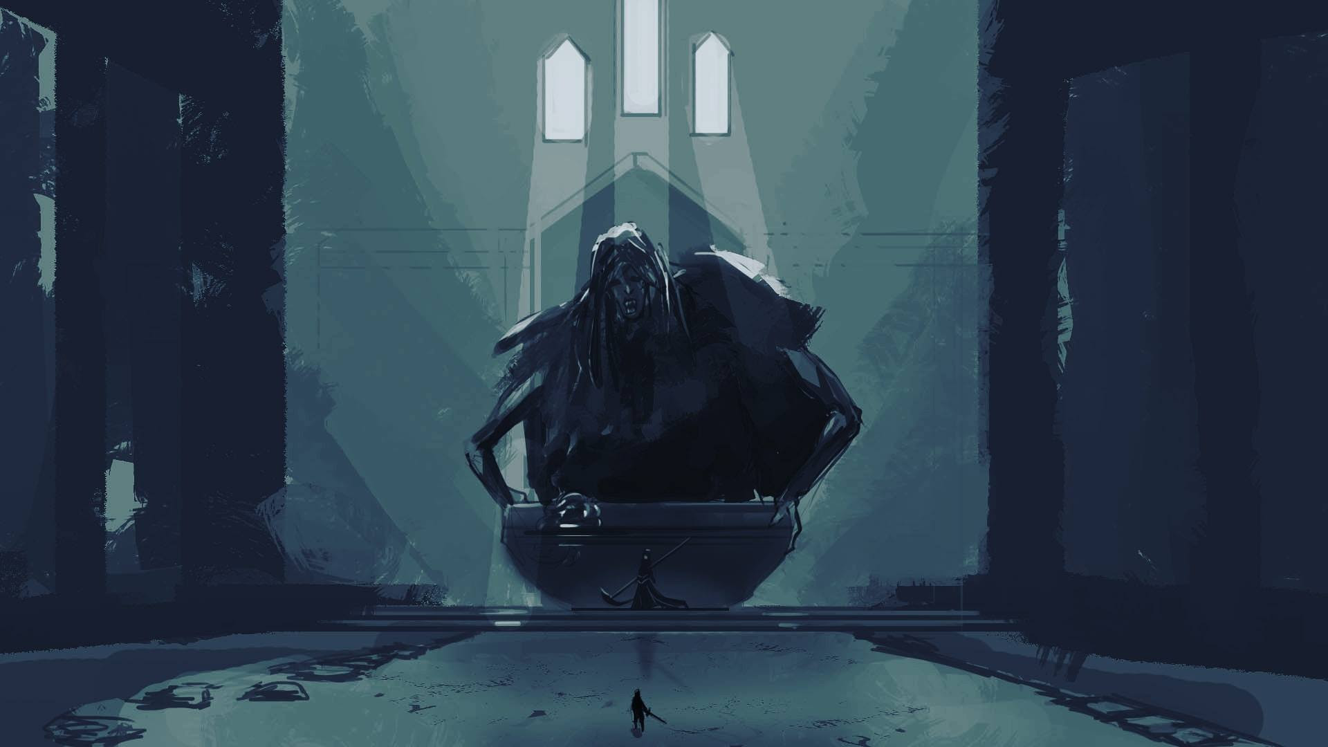 A Sketch Of Father Ariandel And Sister Friede Darksouls3