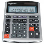 Innovera 15971 Large Digit Commercial Desktop Calculator - 12 Digits - Silver