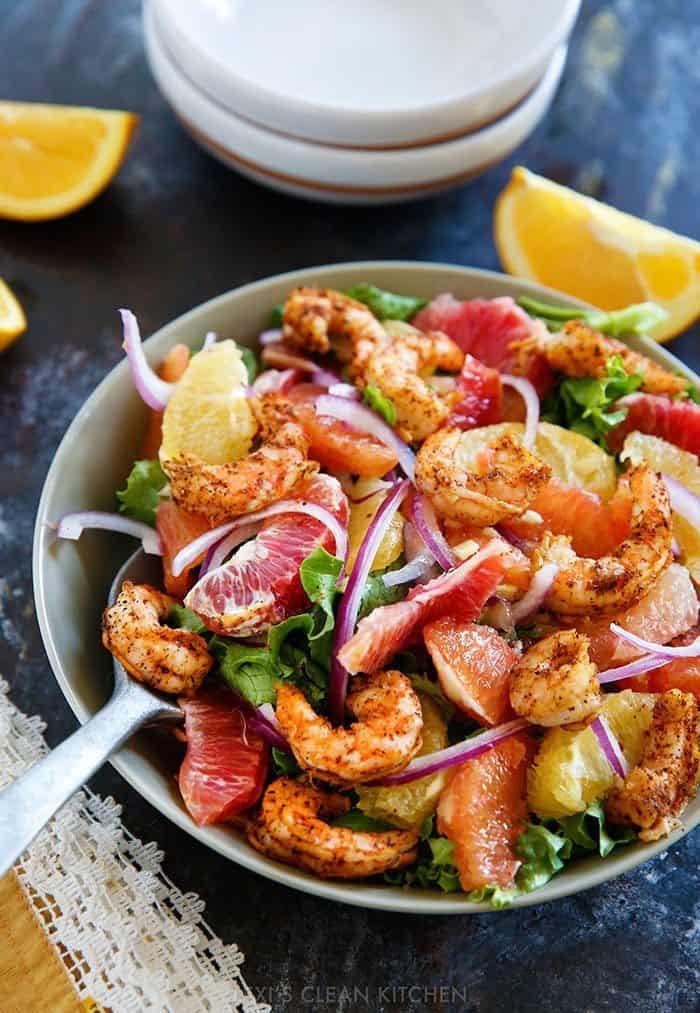 Spicy Shrimp and Citrus Salad - Lexi's Clean Kitchen