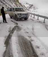 Spin out at a mountain pass