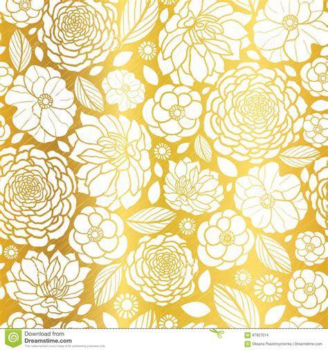 Wedding Vintage Wallpaper Design White & Gold Vector