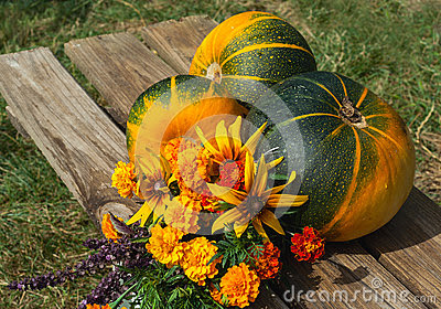 Fruits, légumes et fleurs d automne