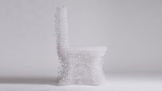 Jungsub Shim's Connect chair is drawn by hand using a 3D-printing pen