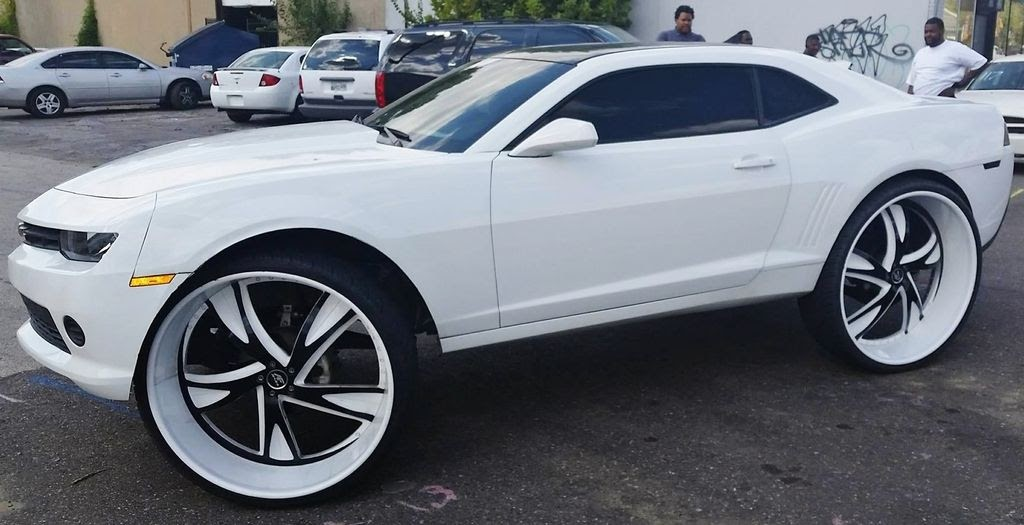 Ace 1 Memphis White 2015 Chevy Camaro On 32 Quot Amani Forged