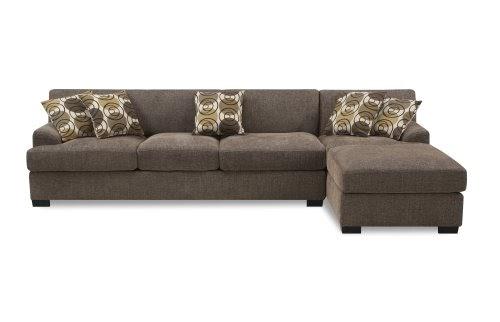 Prime Bobkona Poundex Benford Collection Faux Linen Chaise Sofa 2 Evergreenethics Interior Chair Design Evergreenethicsorg